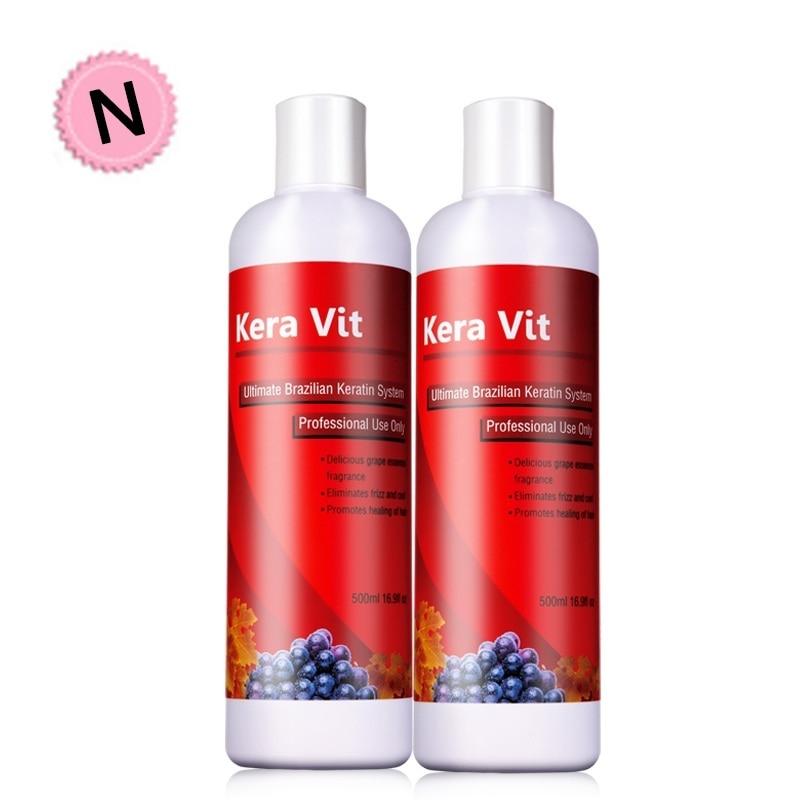 Купить с кэшбэком 11.11 2pcs 500ml 5% Formalin Brazilian Keratin Moisturizing Treatment For Straightening Cream Repair Hair Smooth