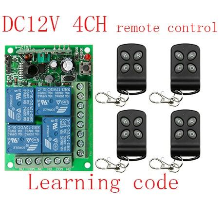 Nueva DC12V 10A 4CH sistema teleswitch inalámbrica interruptor de control remoto