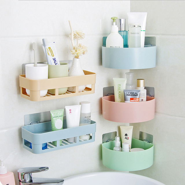 New creative kitchen storage box wall stick sundries rack bathroom new creative kitchen storage box wall stick sundries rack bathroom accessories holder home wall organizer storage workwithnaturefo