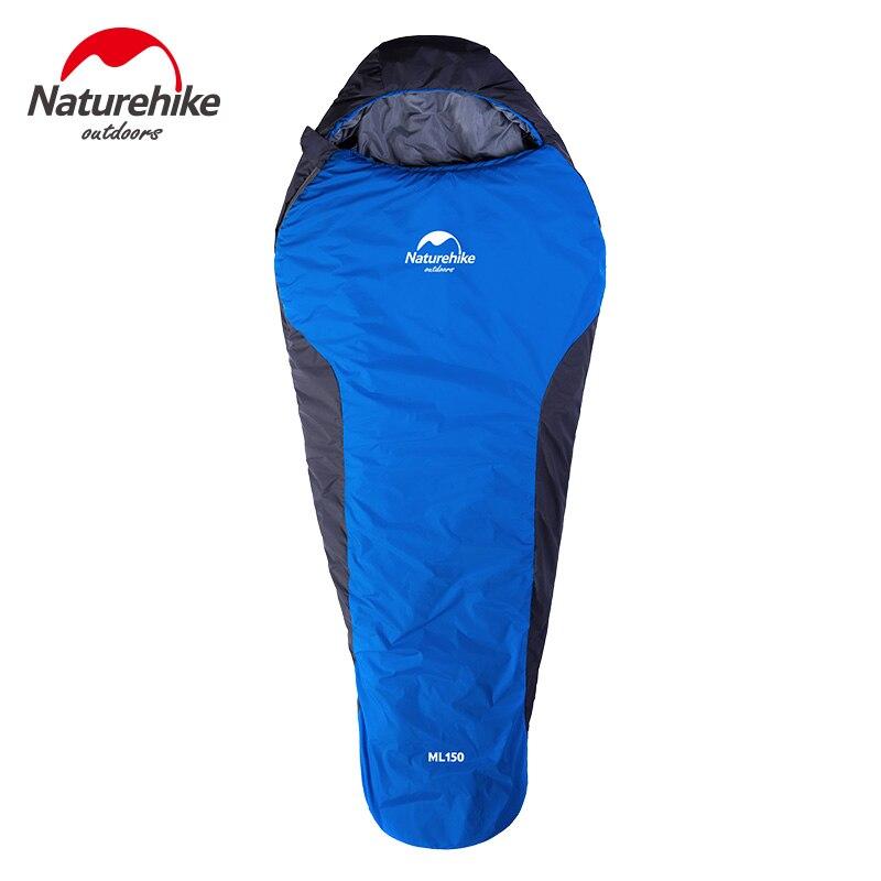 Naturel randonnée Camping sac de couchage en plein air ultra-léger momie coton sac de couchage avec sac de Compression Camping randonnée NH15S013-D