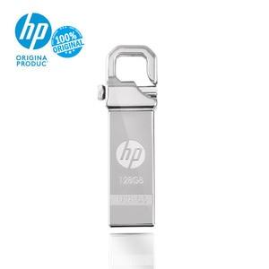 Image 1 - מקורי HP usb דיסק און קי 128gb cle USB Flas 3.0 Pendrive גבוהה מהירות מיני Cle זיכרון מקל לוגו DIY Freies שיף USB מקל