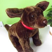 Simulation Dogs Doll Big Toy Brown Bulldog Plush Toys Children Large Dolls Ornaments Birthday Gifts