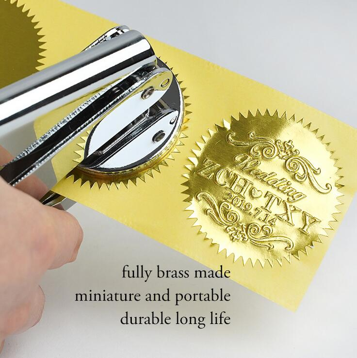 Image 2 - Design Your Own Embosser Stamp / Custom Embosser Seal for Personalized / Wedding Seal Envelope Leather-in Stamps from Home & Garden