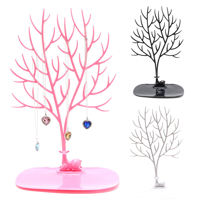 Jewelry Necklace Ring Earring Tree Deer Stand Display Organizer Holder Show Rack