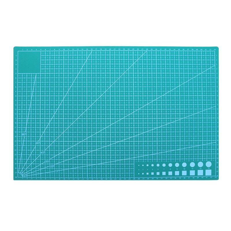 A3 PVC auto curación estera de corte de tela de cuero arte de papel DIY herramientas de doble cara de curación de corte de placa