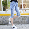 2016 joker crawlers Girls Summer New Arrival Jeans Children wing cropped trousersThin children's clothes 4-12y