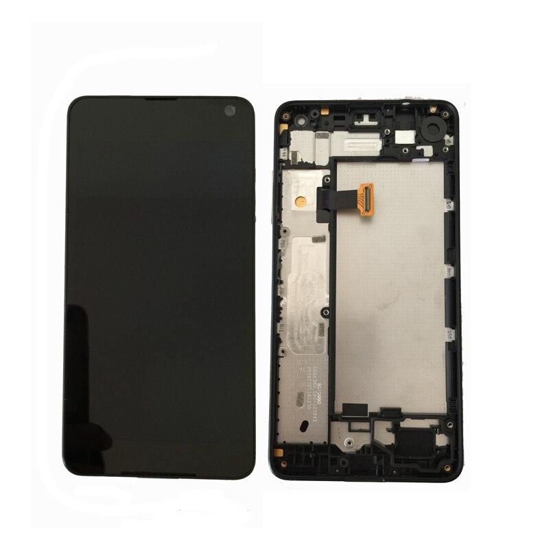 Original Para Microsoft Nokia Lumia 650 Visor LCD com Tela de Toque Digitador Assembléia com frame Frete Grátis