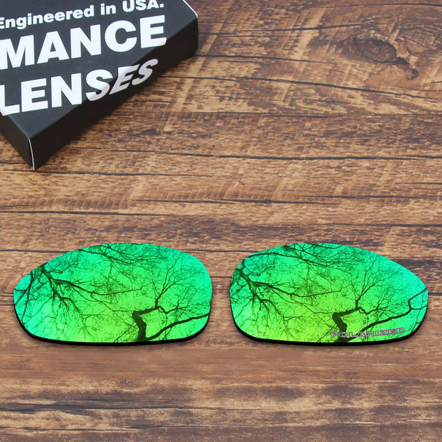 a0cbaa09ea ToughAsNails Resist Seawater Corrosion Polarized Replacement Lenses for  Oakley Juliet Sunglasses Green Mirrored (Lens Only)