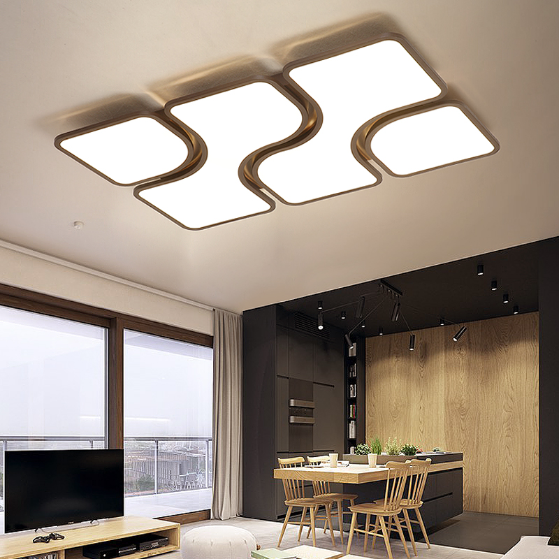 US $160.0 20% OFF|Nordic modern LED ceiling lights bedroom Ceiling lighting  home simple Novelty children\'s room fixtures rectangle ceiling lamps-in ...