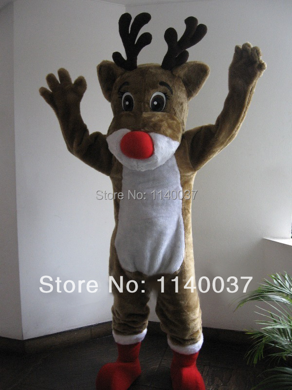 Mascotte Rudolph Renne Costume De Mascotte de fantaisie personnalisée costume anime cosplay thème mascotte des kits fantaisie dress carnaval costume