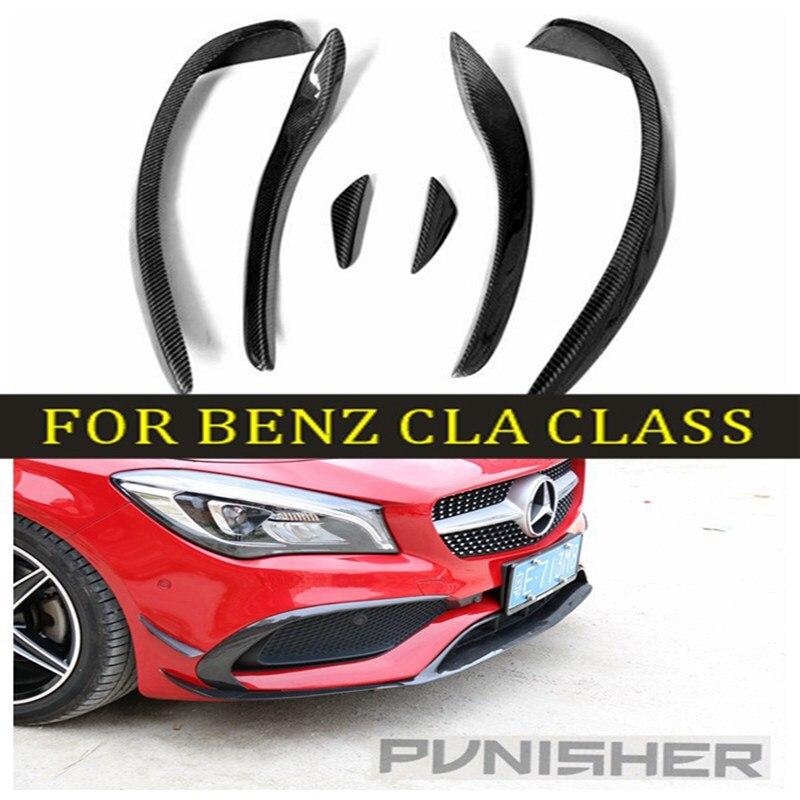 W117 CLA260 CLA250 CLA45 garniture de modélisation de décoration d'évent de pare-chocs avant en Fiber de carbone pour Benz W117 C117 CLA 13-15