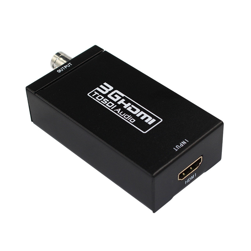 Free Shipping 2pcs/lot Mini 3G 1080P HDMI To SDI+SDI TO HDMI Converter SD-SDI HD-SDI 3G-SDI HD Video Adapter In Retail Package