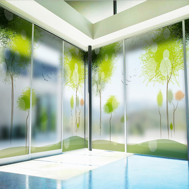 office sliding door. Plain Sliding Selfadhesive Matte Electrostatic Glass Film Bathroom Window Sliding  Door Sunscreen Office Decoration Inside Office Sliding Door