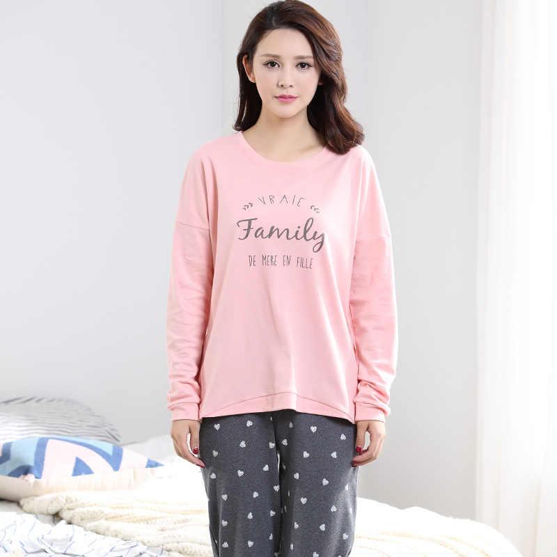 ... Осень с длинными рукавами 100% хлопок Для женщин домашняя одежда Пары  Соответствующие пижамы для взрослых ... a96c714781744