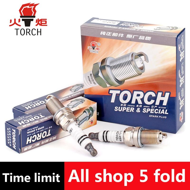 4pcs Lot China Original TORCH Iridium Spark Plugs K6RTI 11 For LADA Oka Samara 2110 2112