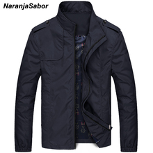 NaranjaSabor Mens Brand Clothing 2017 Autumn Men's Jackets Spring Mens Coats Slim Trench Male Windbreaker Casual Outerwear 4XL