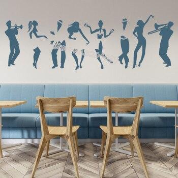 Adhesivo de pared para baile de Salsa, baile latino, Salsa, Cuba, calcomanía de pared, estudio de baile, habitación de niños, decoración para sala de estar, mural EB282