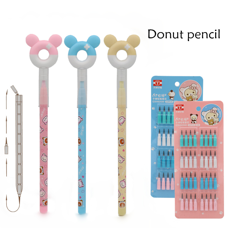 Cute Donut Pencil No Need To Cut  Bullet Pencil School Children's Drawing And Writing Pen