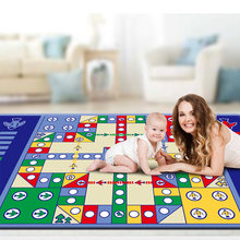 High Quality Baby Game Blanket Large Kid's Ludo Mat Waterproof picnic carpet Beach toys Play mat(China)