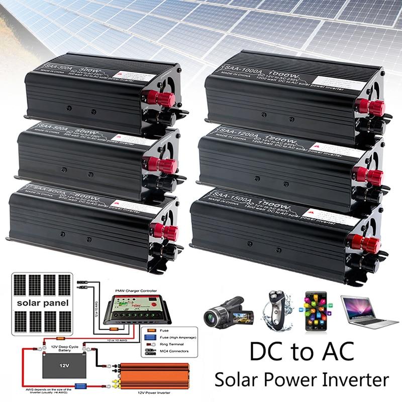 Solar Power Inverter 12V DC To 230V AC Modified Sine Wave Converter 1500W ninth world new 1500w up to 3000w peak modified sine wave power inverter dc 12v to ac 230v converter supply solar power
