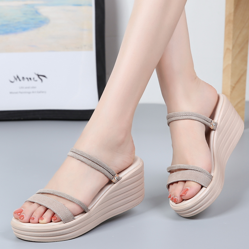 Women Sandals Wedges-Shoes Gladiator Peep-Toe Hollow Fashion Summer New Lady Lace Casual