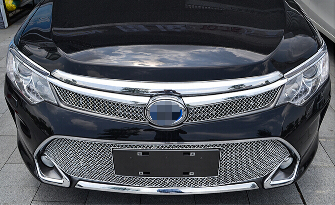 For Toyota camry 2015 Front Grille Grill Bezel Honeycomb Mesh Cover car styling not fit for North-America style plc exm 8dc pt100 r hmi with lcd programmable logic controller