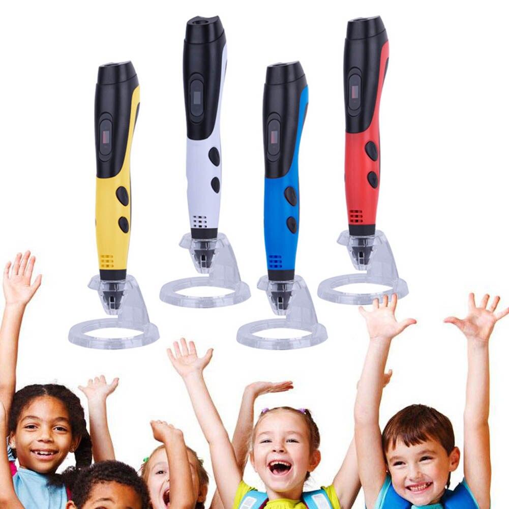 3D Stylo avec Écran LCD avec 5 M 1.75mm PLA Filament Parfait Cadeau pour Enfants Adultes 8 @ 88 DJA99