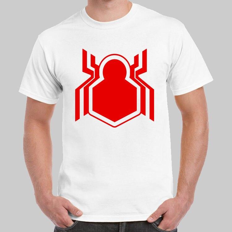 Spiderman New Logo Captain America Civil War T-shirt USA Size T Shirt Hot Topic Men Short Sleeve Men Cool Tees Tops