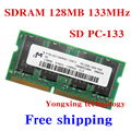 Lifetime warranty For Micron SDRAM 128MB 133MHz PC-133 Original authentic SD 128M notebook memory Laptop RAM 144PIN SODIMM