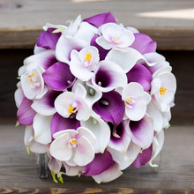 50pcs/lot fake calla lily artificial flowers branch real touch flower for wedding decoration fleur artificielle H0019