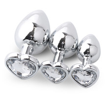 snowshine YLW  3 Pcs Heart Shaped Base With Jewelry Birth Stone Butt-Anal-Play Rose Jewel Sex  free shipping