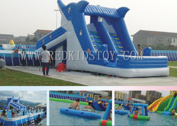 Hot Sell! Inflatable Water Slide High Quality Inflatable Water Games HZ-E028