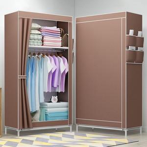 Image 1 - Simple Folded Students Small Wardrobe Combination DIY Assembly Wardrobe Single Clothing Storage Cabinet Dustproof Cloth Closet