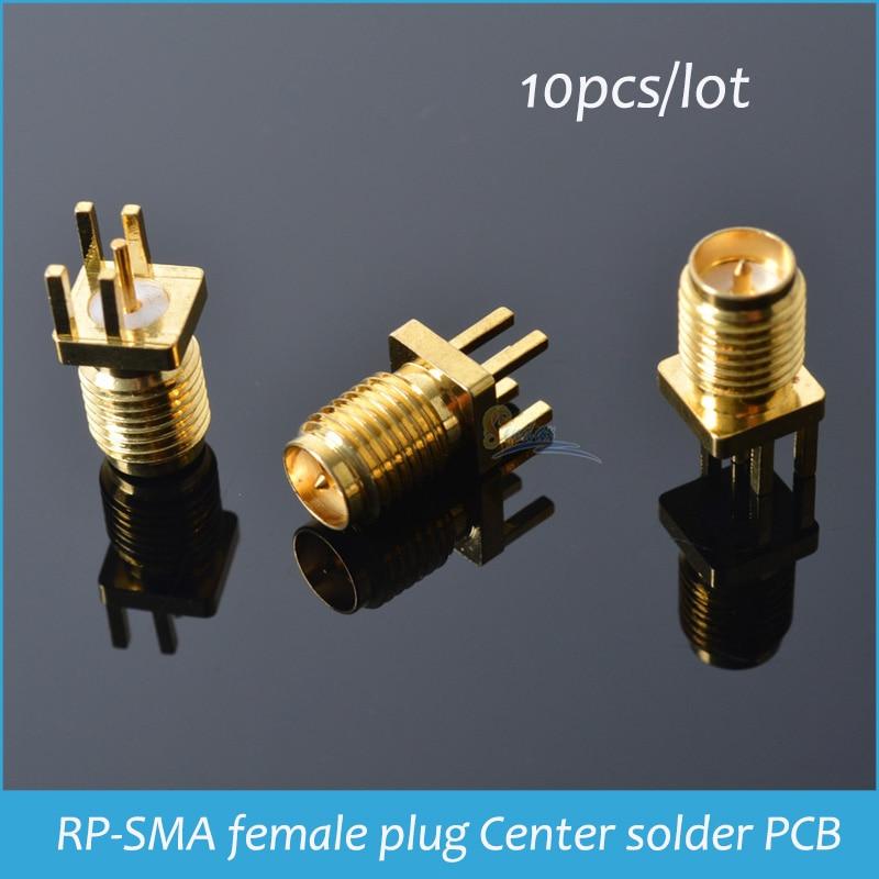 100pcs Copper RP SMA female plug center Soldering clip edge mount RF connector