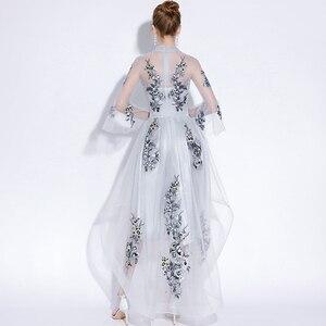 Image 2 - Fariy hafty sukienki koktajlowe z krótszym przodem długie plecy 2019 elegancka linia okazje Party suknie wieczorowe sukienka na studniówkę
