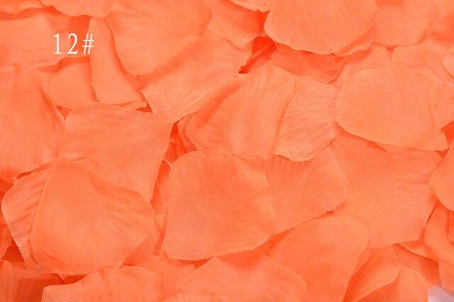 aliexpress com buy 2000pcs lot orange artificial silk rose petals