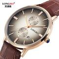 2016 relojes hombre ultra slim Top brand Quartz Watch men Casual Business JAPAN longbo Leather Analog Watch Men's  LB80086