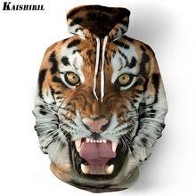 Hoodies de los hombres sudadera de los hombres divertidos 3D Tigre León moda harajuku marca plus tamaño S-3XL impreso con capucha hombres mujeres pullovers