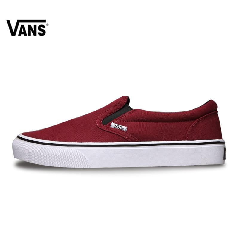ac400e81375 VANS Classic Slip-On Original New Arrival Vans Classic womens Skateboarding  Shoes Low Top for