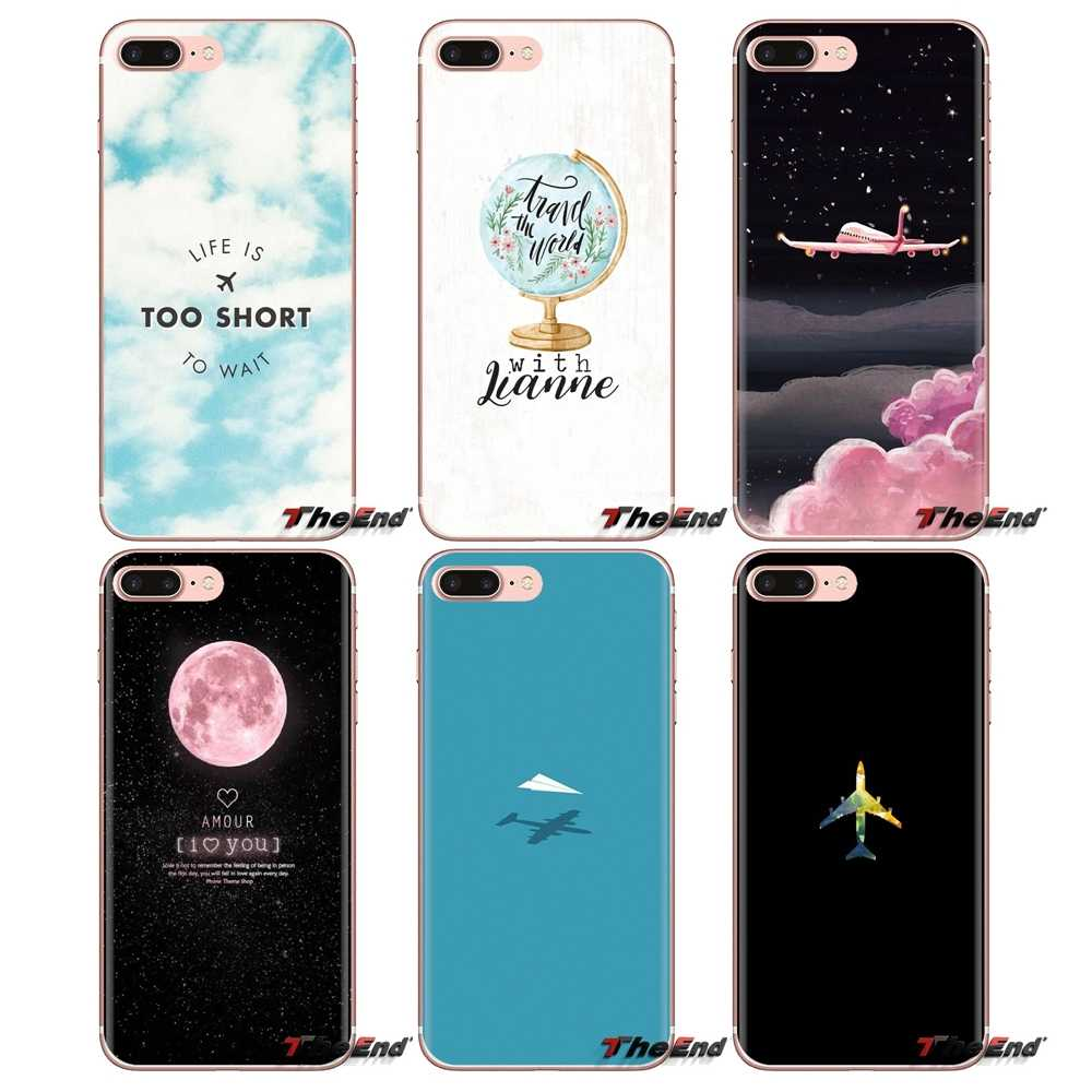 Silicone Phone Housing For LG Spirit Motorola Moto X4 E4 E5 G5 G5S G6 Z Z2 Z3 G2 G3 C Play Plus Mini Cartoon Cute Candy Airplane