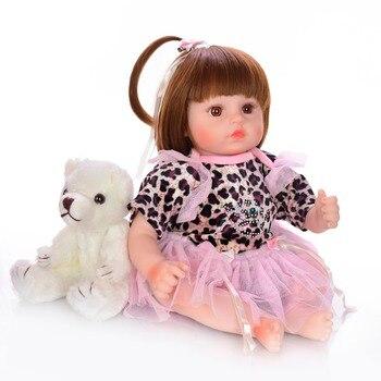 18inch 48cm Silicone Reborn Baby Dolls Bebe Alive Realistic Boneca Bebe lol Lifelike reborn toddler Girl Birthday Toys For Child