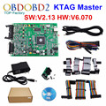 Newest KTAG SW V2.13 Firmware V6.070 ECU Programming Tool K-TAG Master Version K TAG No Tokens Limited Multi-Languages Free Ship