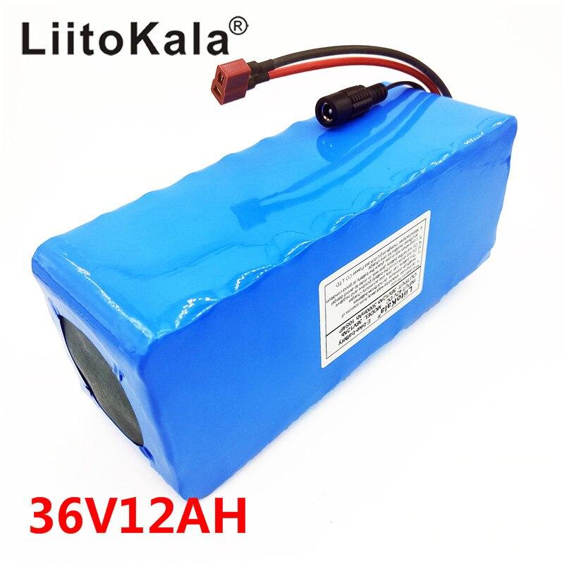 Image 4 - Новый LiitoKala 36 V 12AH электрический велосипедный аккумулятор встроенный литиевый аккумулятор BMS 20A 36 вольт с 2A зарядкой батареи Ebike-in Комплекты батарей from Бытовая электроника