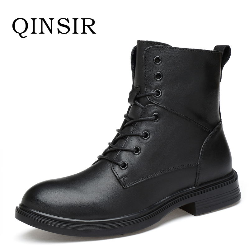 Winter Martin Military Boots Men Shoes Leather Mens Boots Brand Fur Plush Boots Autumn Winter Shoes Zapatos Hombre Size 35-49 plush casual suede shoes boots mens flat with winter comfortable warm men travel shoes patchwork male zapatos hombre sg083