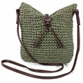 New Fashion Woven Shoulder Bags Straw Summer Women Weave Crossbody Beach Travel Handbag