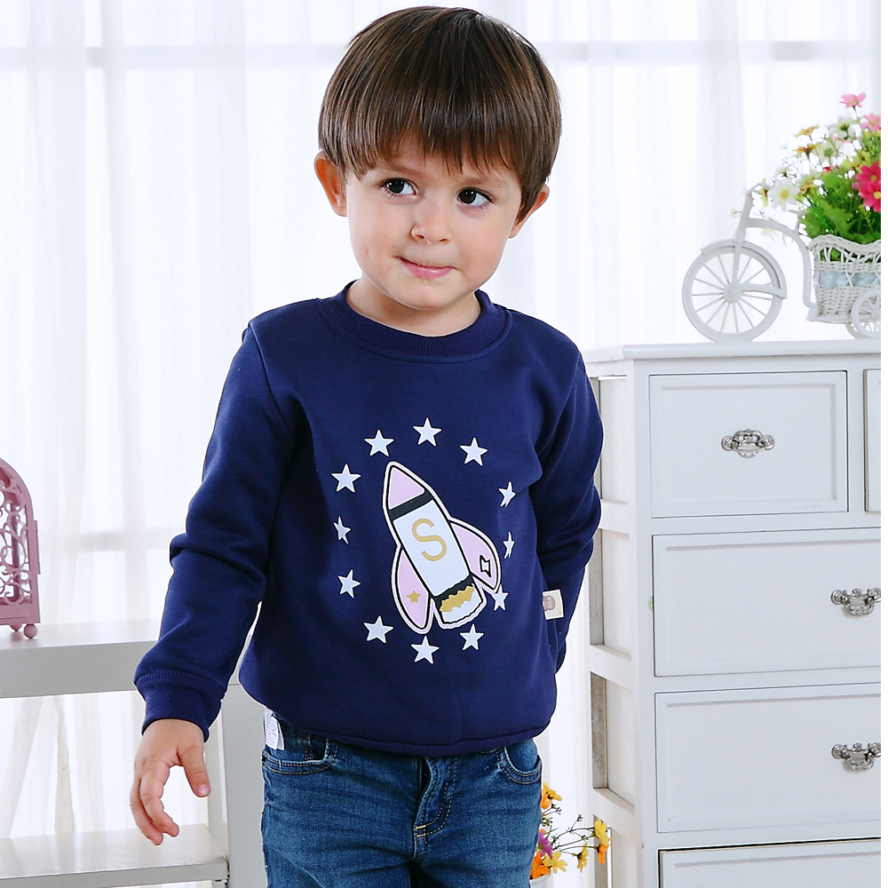 Autumn Winter Kids Boy Girl Clothes Top Warm Cotton Hoodies Sweatshirt Sport Pullover Children Clothing