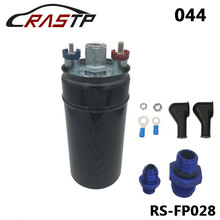 RASTP-High Quality External Fuel Pump 044 Style Poulor 300LPH Color Black RS-FP028