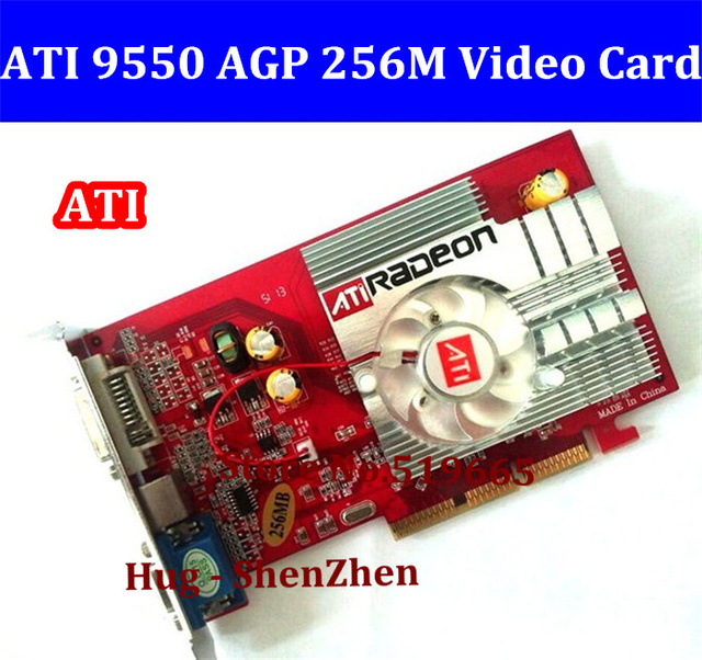 From Factory Low End AGP Video Card NEW Original 9550 256MB DDR2 4x 8x Free Shipping