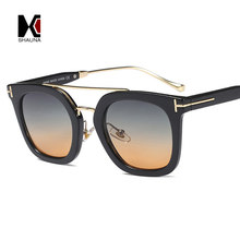 2a3697ebfd SHAUNA Double Bridges Retro Women Gradient Sunglasses Fashion Men Square  Shades