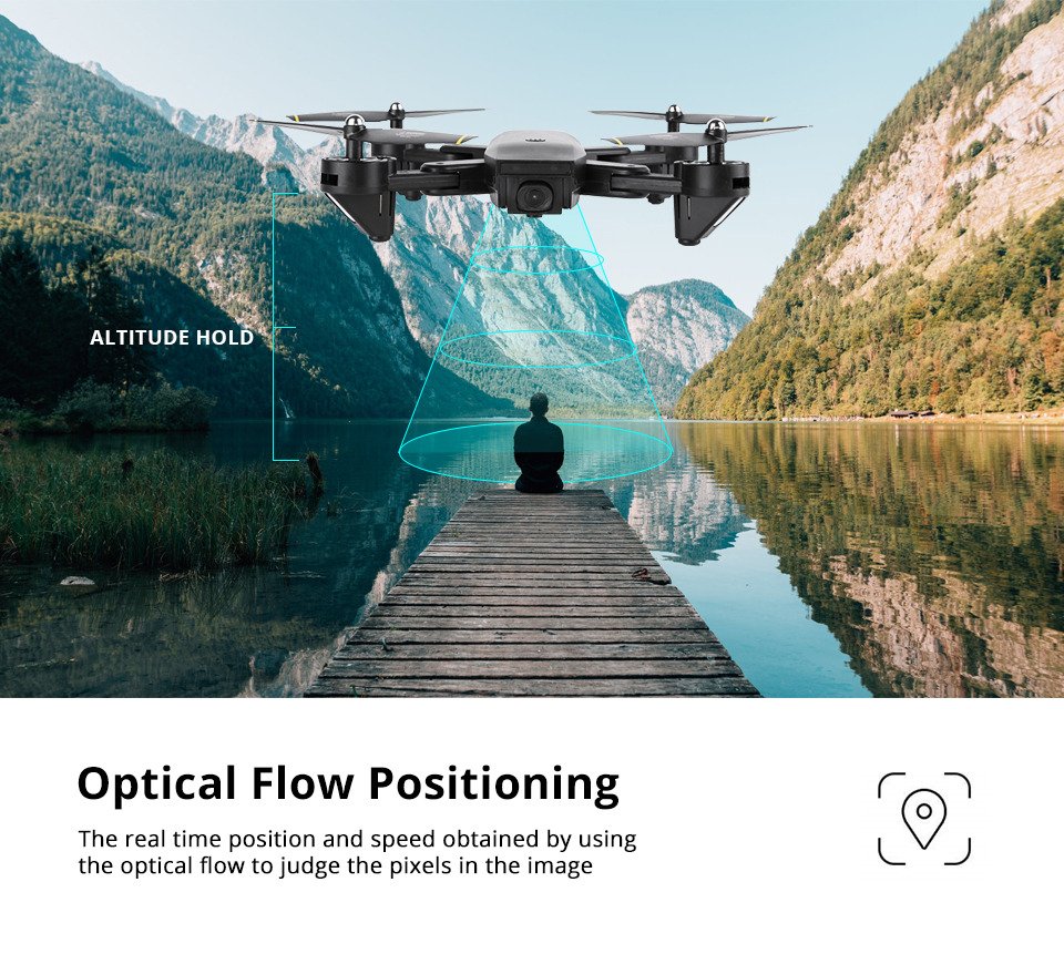 Professional Selfie Drone Optical Follow Me RC Quadcopter with Dual Camera HD 1080P FPV Helicopter VS VISUO XS809S SG700 E58 12